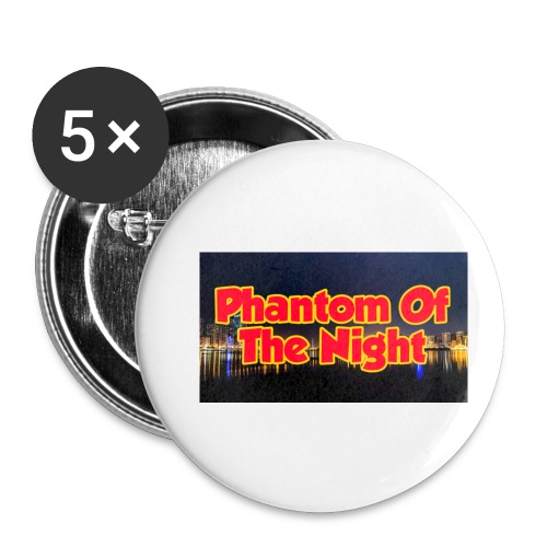 Phantom Of The Night Official Wear - Buttons small 1''/25 mm (5-pack)