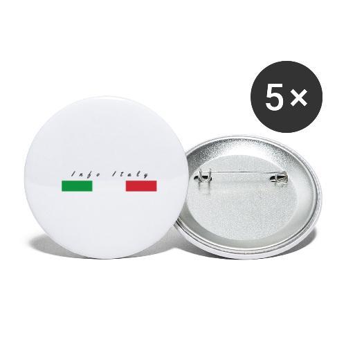 Info Italy Design - Confezione da 5 spille piccole (25 mm)