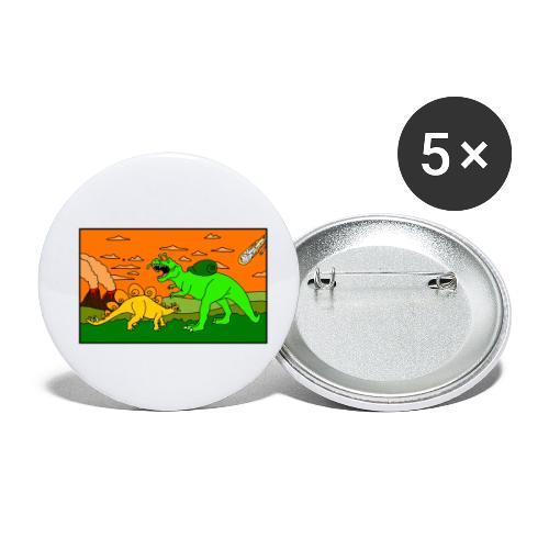 Schneckosaurier von dodocomics - Buttons klein 25 mm (5er Pack)