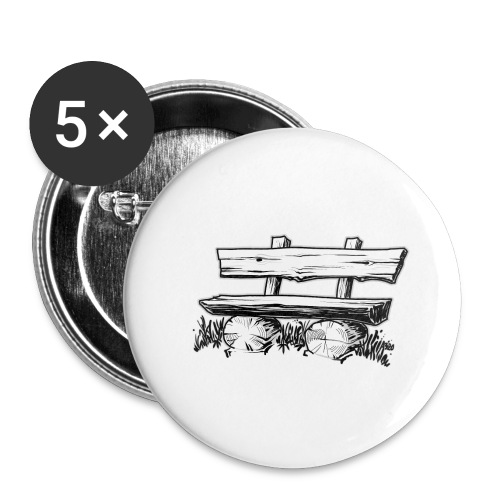 995 Bank hout outline - Buttons klein 25 mm (5-pack)