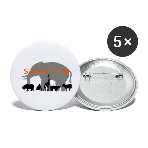 Animaux - Lot de 5 petits badges (25 mm)