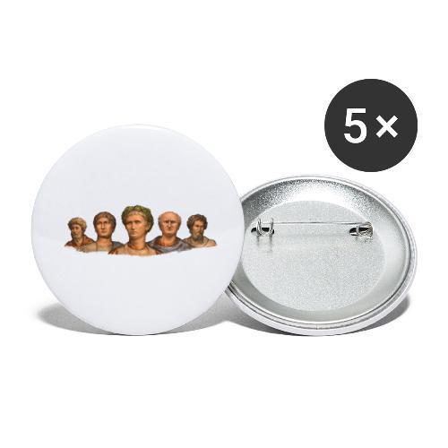 Popiersia cesarskie | Imperial busts - Przypinka mała 25 mm (pakiet 5 szt.)