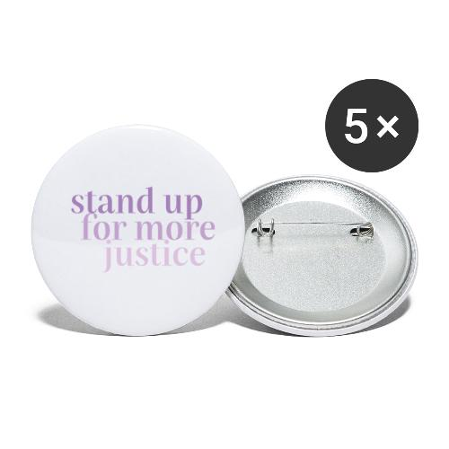 MORE JUSTICE - Buttons klein 25 mm (5er Pack)