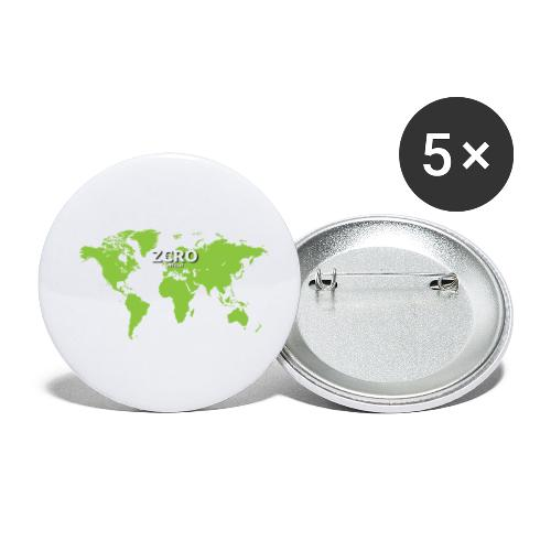 World Z€RO official - Buttons small 1''/25 mm (5-pack)