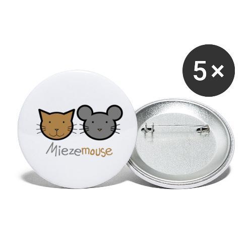Miezemouse Logo - Buttons klein 25 mm (5er Pack)