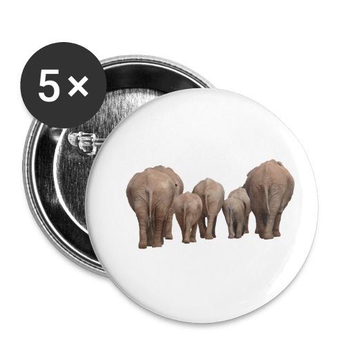elephant 1049840 - Confezione da 5 spille piccole (25 mm)