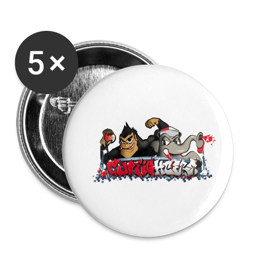 Cupfighters Rotterdam - Buttons klein 25 mm (5-pack)