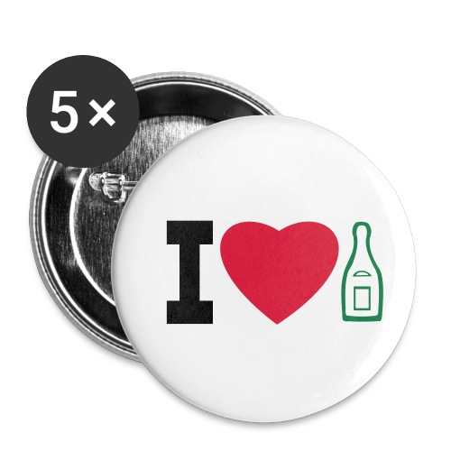 i love champagne - Buttons small 1''/25 mm (5-pack)
