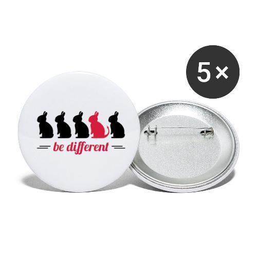be different Hasen Kanichen Ostern bunny Häschen - Buttons klein 25 mm (5er Pack)