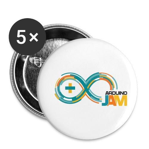 T-shirt Arduino-Jam logo - Buttons small 1''/25 mm (5-pack)