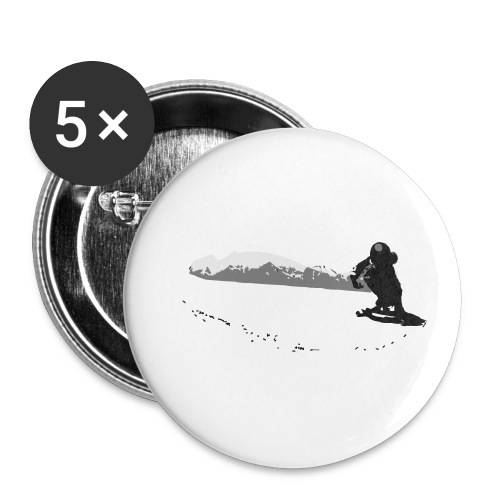 Downhill Longboard Skater in Action - Buttons klein 25 mm (5er Pack)