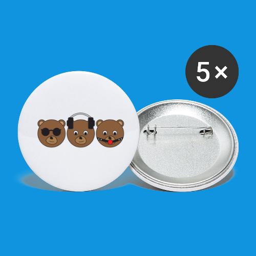 3 Wise Bears - Buttons small 1''/25 mm (5-pack)
