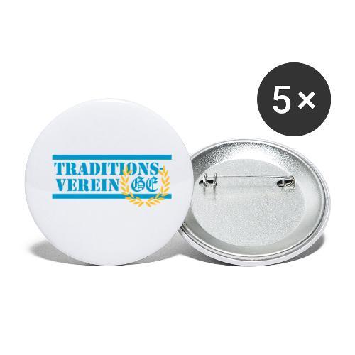 Traditionsverein - Buttons klein 25 mm (5er Pack)