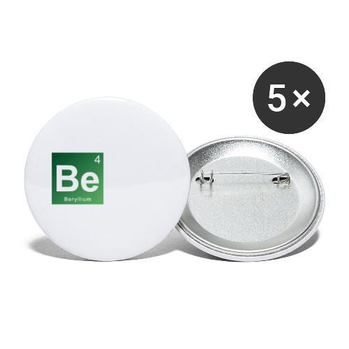 Be - Beryllium- Bernau - Buttons klein 25 mm (5er Pack)