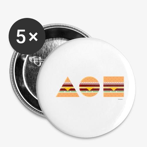 Graphic Burgers - Confezione da 5 spille piccole (25 mm)