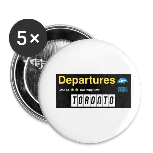 TORONTO png - Confezione da 5 spille piccole (25 mm)