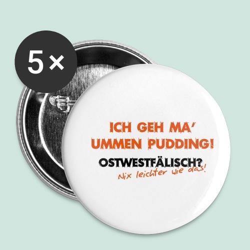 Ummen Pudding - Buttons klein 25 mm (5er Pack)