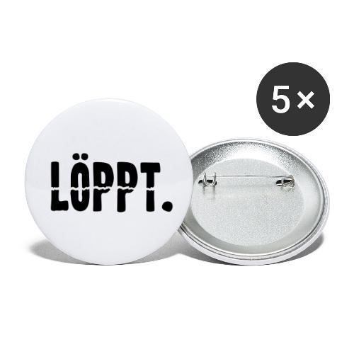 LÖPPT. - Buttons klein 25 mm (5er Pack)