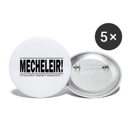 Mecheleir vrouwen weten - Buttons klein 25 mm (5-pack)