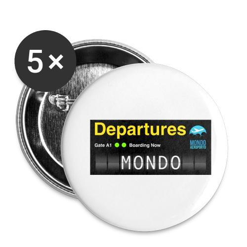Departures MONDO jpg - Confezione da 5 spille piccole (25 mm)