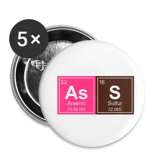 Geeky Ass Periodic Elements - Buttons small 1''/25 mm (5-pack)