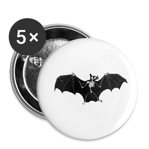 Bat skeleton #1 - Buttons small 1''/25 mm (5-pack)