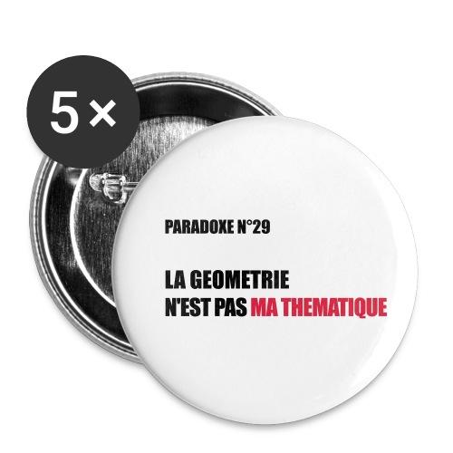 PARADOXE geometrie - Lot de 5 petits badges (25 mm)