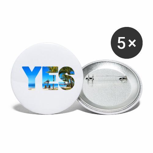 Karibik Urlaub - Buttons klein 25 mm (5er Pack)