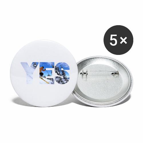 Wintersport - Buttons klein 25 mm (5er Pack)