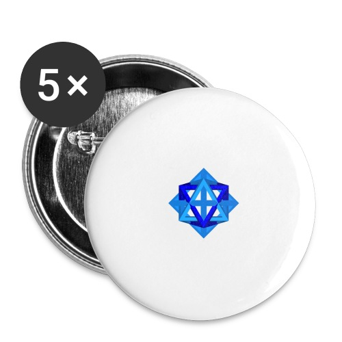 star octahedron series geommatrix - Buttons small 1''/25 mm (5-pack)