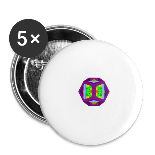 THE 5 PLATONIC SOLIDS - Buttons small 1''/25 mm (5-pack)