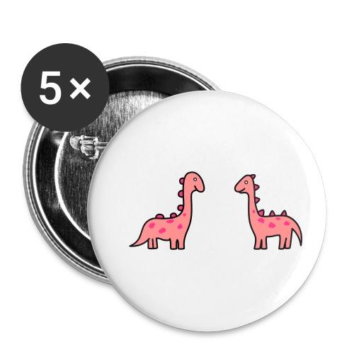 Mochila de Dinosaurios - Paquete de 5 chapas pequeñas (25 mm)