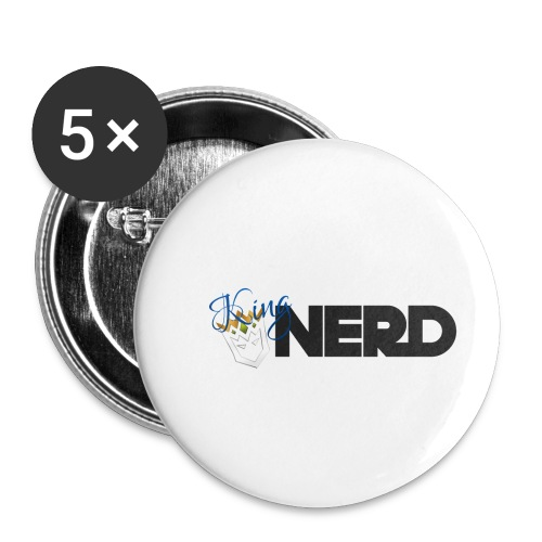 King-Nerd - Buttons small 1''/25 mm (5-pack)