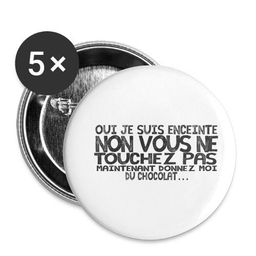T-Shirt-Femme-Enceinte-Chocolat - Lot de 5 petits badges (25 mm)