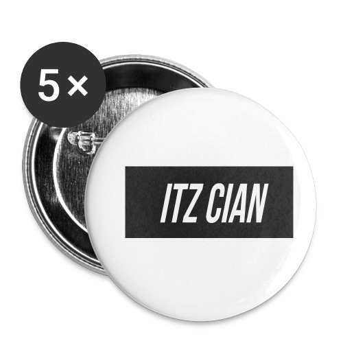ITZ CIAN RECTANGLE - Buttons small 1''/25 mm (5-pack)