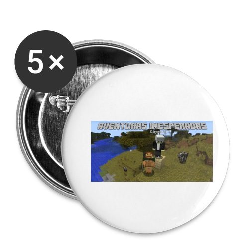 minecraft - Buttons small 1''/25 mm (5-pack)
