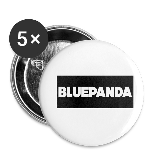 BLUE PANDA - Buttons small 1''/25 mm (5-pack)