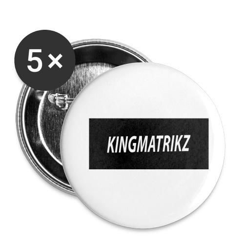 kingmatrikz - Buttons/Badges lille, 25 mm (5-pack)