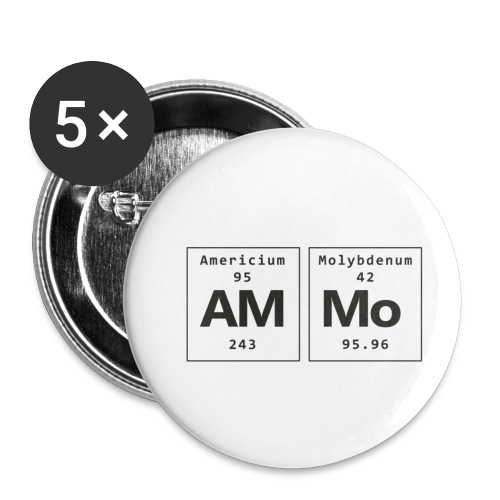 Ammo - Buttons/Badges lille, 25 mm (5-pack)
