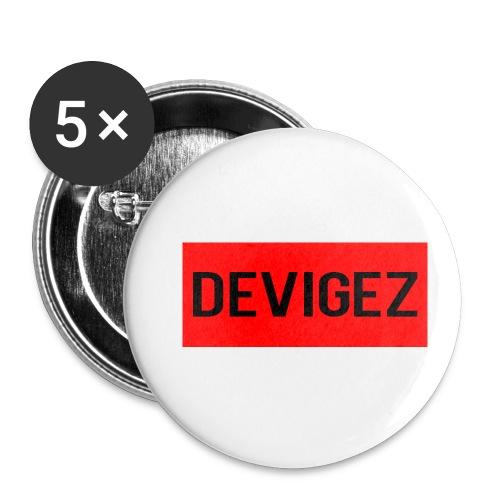 devigez original - Små knappar 25 mm (5-pack)