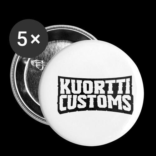 kuortti_customs_logo_main - Rintamerkit pienet 25 mm (5kpl pakkauksessa)
