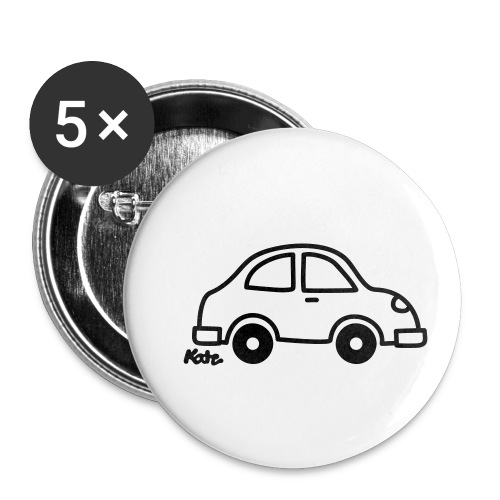 Auto - Buttons klein 25 mm (5er Pack)