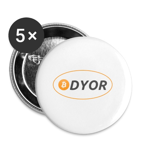 DYOR - option 2 - Buttons small 1''/25 mm (5-pack)