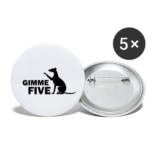 Whippet - Buttons klein 25 mm (5er Pack)