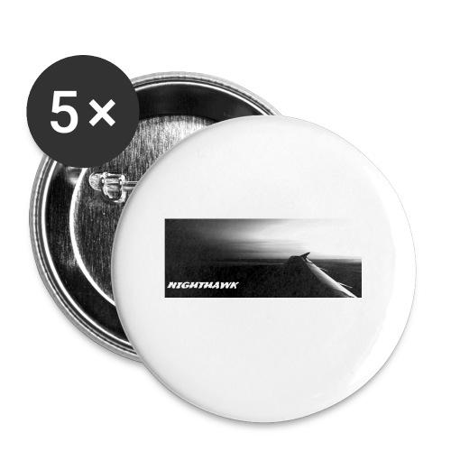 Nighthawk - Buttons klein 25 mm (5er Pack)