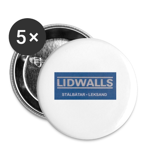 Lidwalls Stålbåtar - Små knappar 25 mm (5-pack)