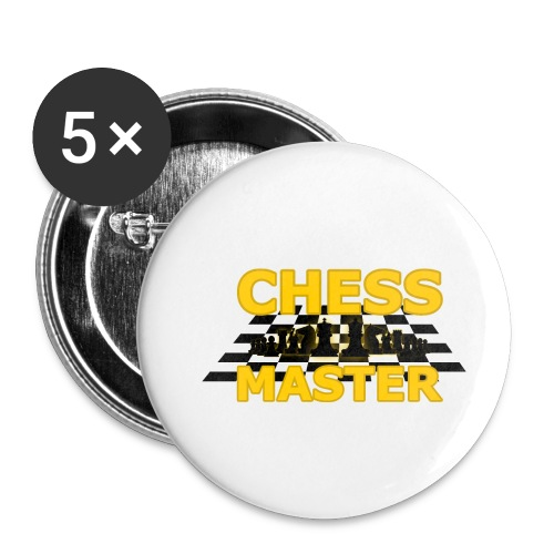 Chess Master - Black Version - By SBDesigns - Buttons small 1''/25 mm (5-pack)