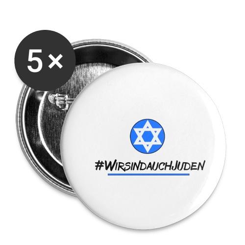 Wir sind auch Juden II - Buttons klein 25 mm (5er Pack)
