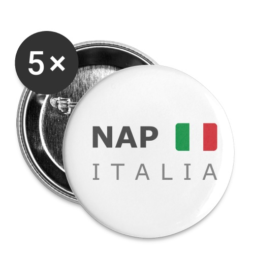 NAP ITALIA dark-lettered 400 dpi - Buttons small 1''/25 mm (5-pack)