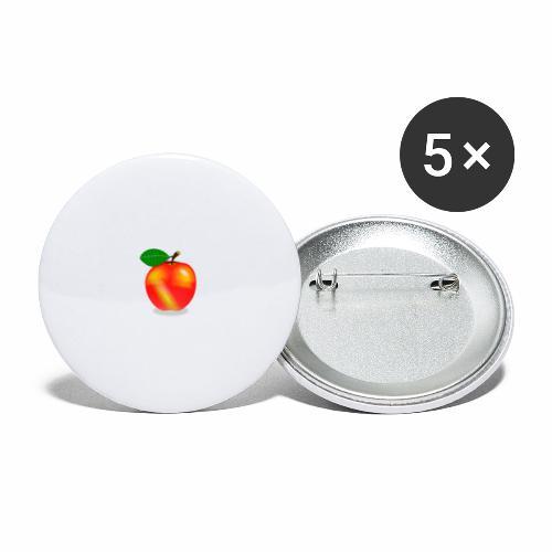 Apfel - Buttons klein 25 mm (5er Pack)